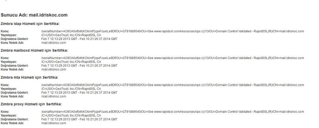 Installing a StartSSL SSL Certificate with zmcertmgr – İdris KOÇ